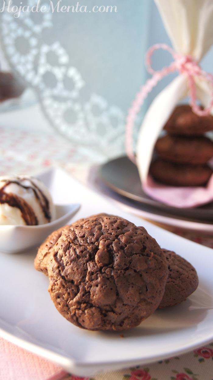 Bocaditos de Brownie para Hoja de Menta