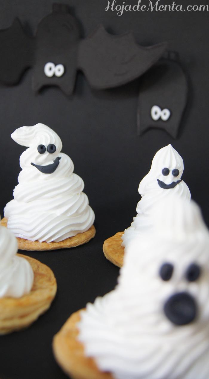 Fantasmas de merengue para Halloween en Hoja de menta