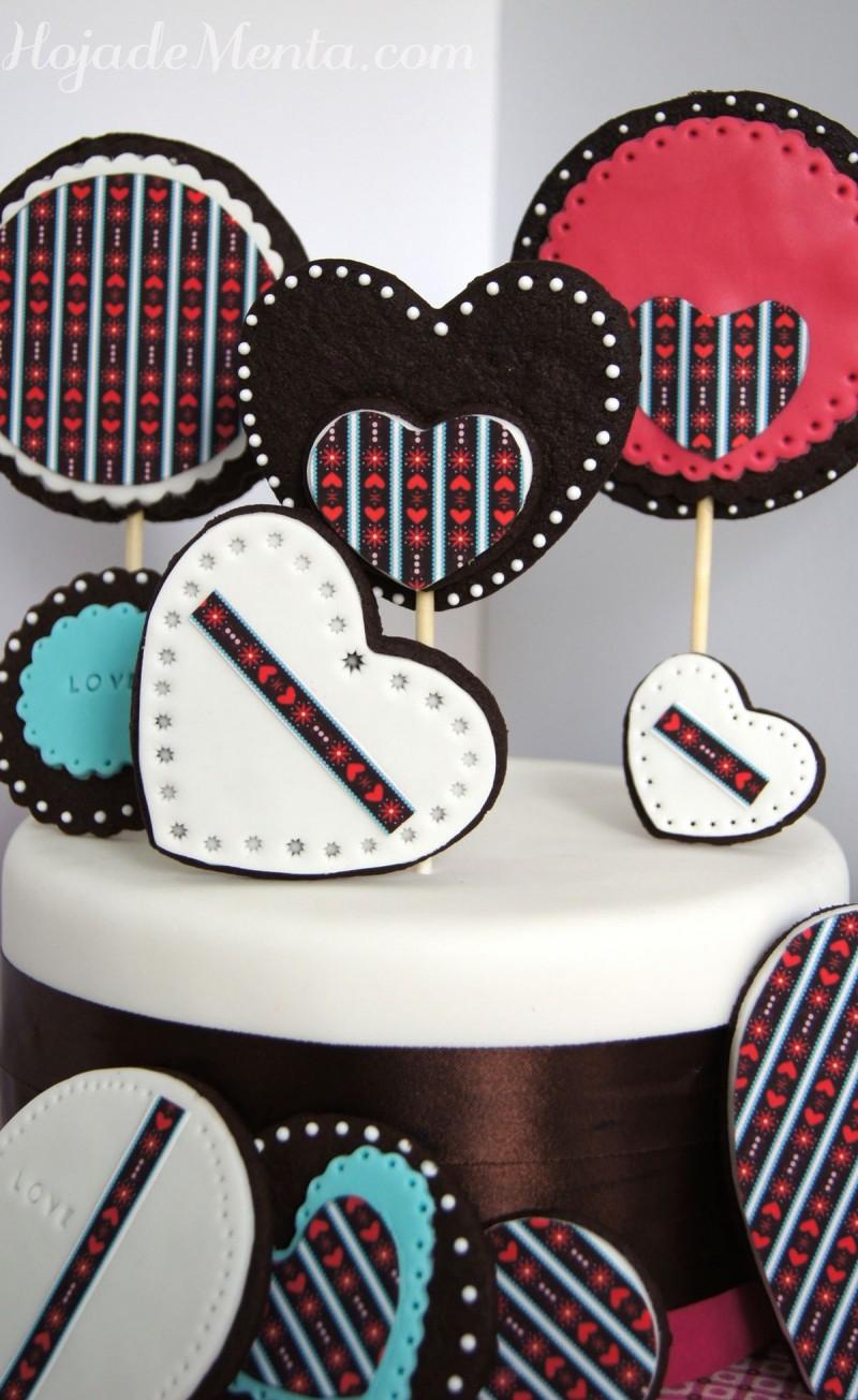 Galletas de chocolate decoradas para HojadeMenta