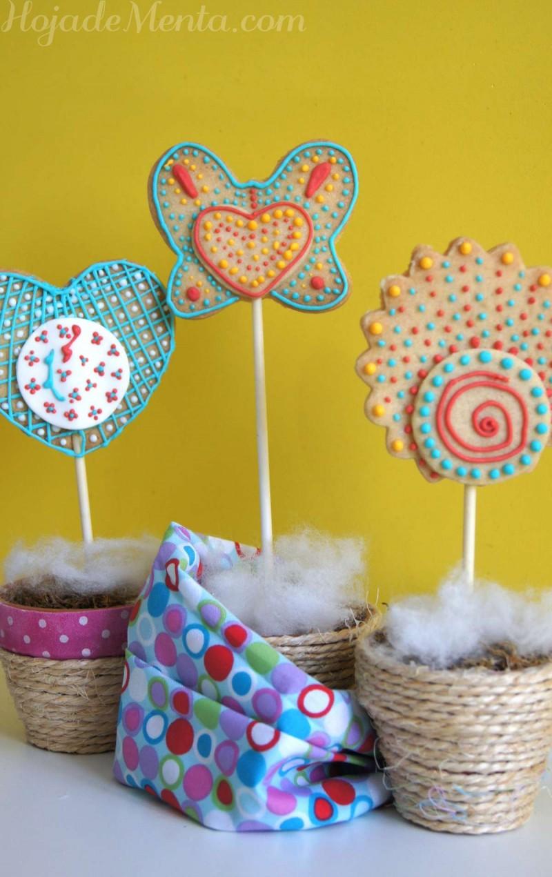 Galletas decoradas con glasa para HojadeMenta