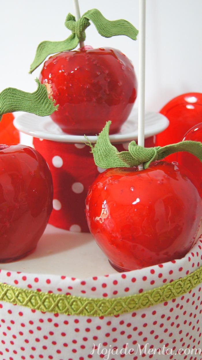 Manzanas caramelizadas para Hoja de Menta