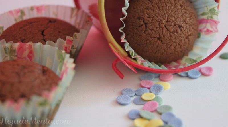 Mini Magdalenas de chocolate para hojadeMenta