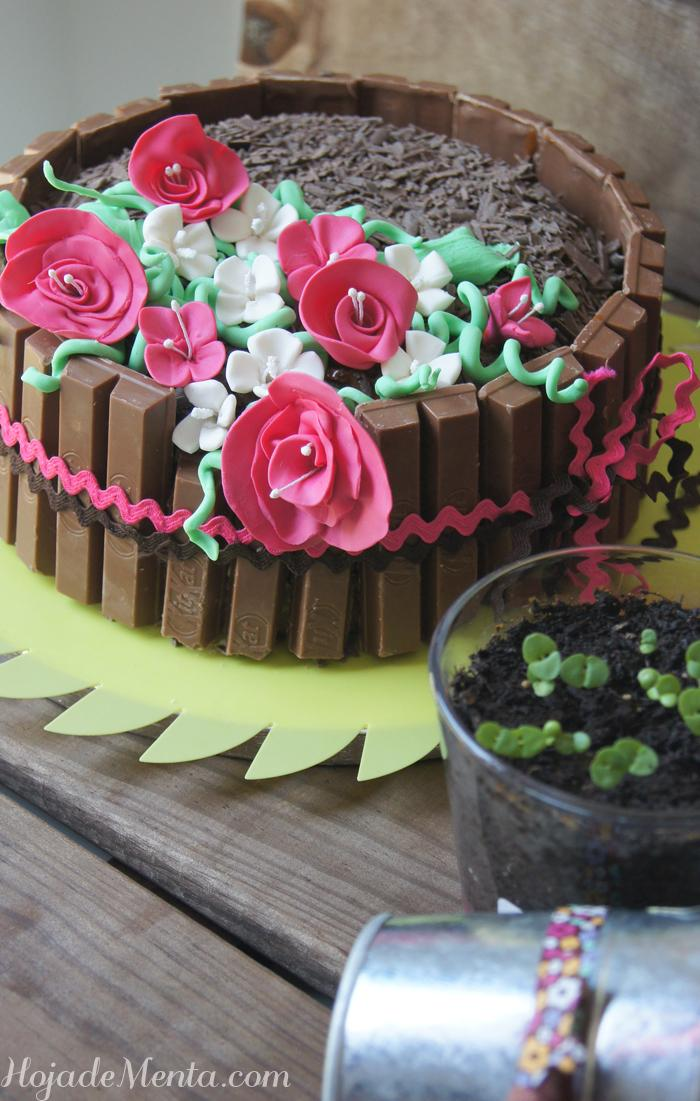 Tarta primaveral de chocolate blanco para HojaDeMenta