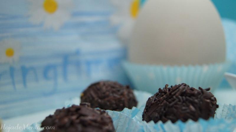 Trufas de chocolate para HojadeMenta